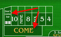 how to play the dont come bet in craps