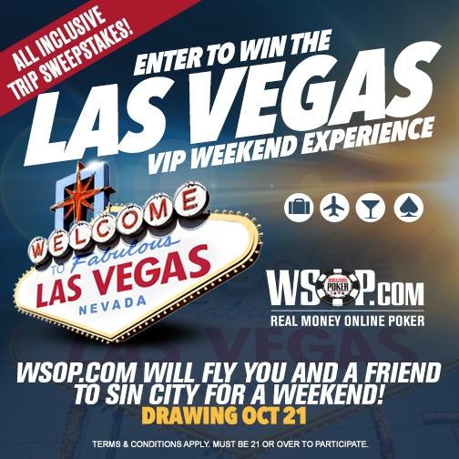 Caesars Palace Vegas WSOP VIP Weekend Sweepstakes.