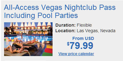 Las Vegas Direct All-Access Vegas Club and Pool Party Pass