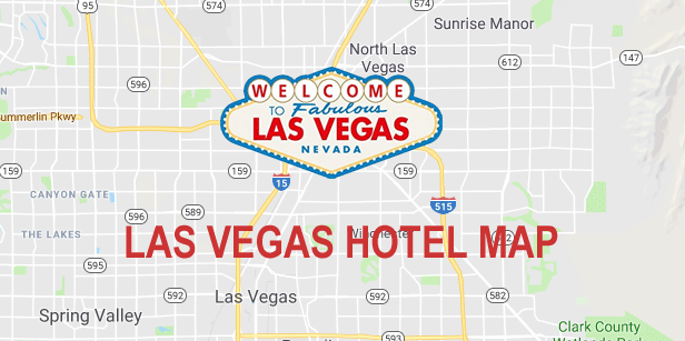 Las Vegas Strip Hotel Map (2019)