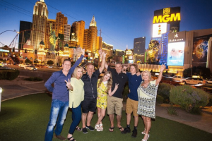 Las Vegas Strip by Limo with Photographer