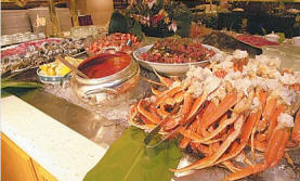 The Buffet at Wynn Las Vegas. Crab legs.